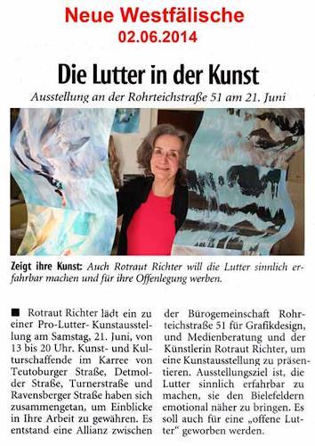 Rotraut Richter, NW-Artikel Bielefelder Lutter in der Kunst, Diverses, Situationen, Gegenwartskunst