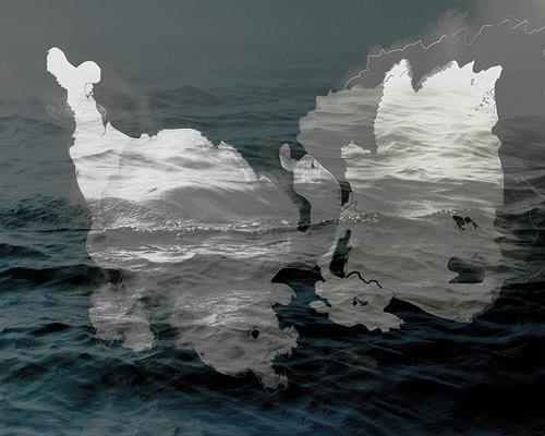 Rotraut Richter, Wasserwolkenfantatiere, Tiere: Wasser, Skurril, New Image Painting, Abstrakter Expressionismus