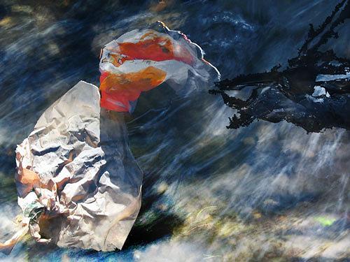 Rotraut Richter, Müllwesen im Wasser, Tiere: Wasser, Skurril, Gegenwartskunst
