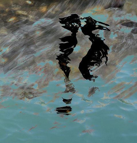 Rotraut Richter, Lutterspiegelungen 1, Skurril, Natur: Wasser, Gegenwartskunst, Abstrakter Expressionismus
