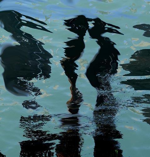 Rotraut Richter, Lutterspiegelungen 2, Skurril, Tiere: Wasser, Gegenwartskunst, Abstrakter Expressionismus