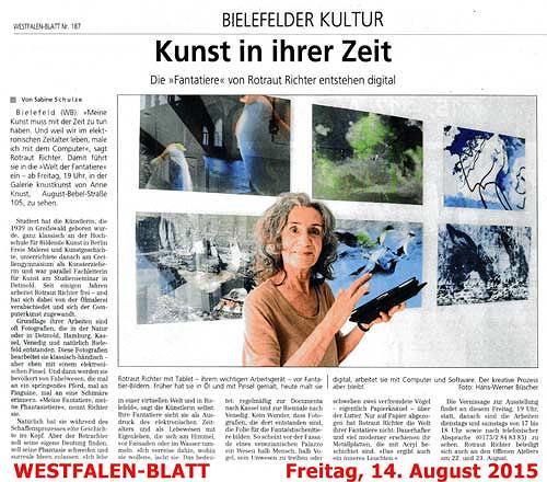 Rotraut Richter, Westfalen-Blatt, Diverse Tiere, Diverses, Gegenwartskunst