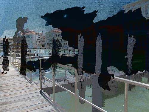 Rotraut Richter, Venedigkanal, Skurril, Tod/Krankheit, New Image Painting, Abstrakter Expressionismus