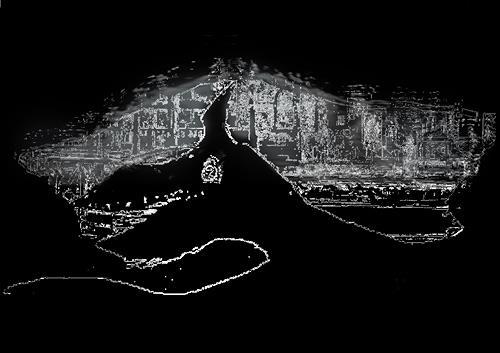 Rotraut Richter, Venedig-Wachhund, Tiere: Land, Situationen, Gegenwartskunst, Abstrakter Expressionismus