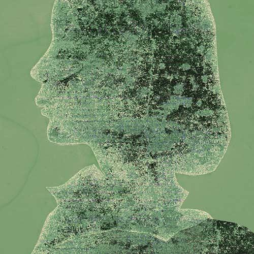Rotraut Richter, Selbstporträt antik, Menschen: Frau, Symbol, Gegenwartskunst, Expressionismus