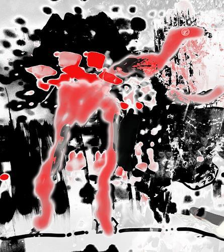 Rotraut Richter, Flügeltier-, Skurril, Situationen, New Image Painting, Abstrakter Expressionismus
