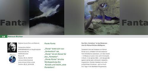 Rotraut Richter, Offene Ateliers 18 Rotraut Richter Katalogseite, Diverse Tiere, Situationen, Gegenwartskunst