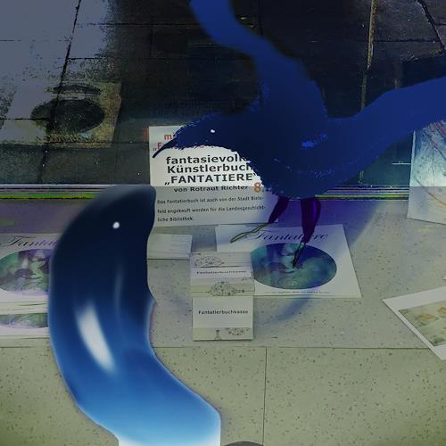 Rotraut Richter, Fantatiere in der Ausstellung, Skurril, Diverse Tiere, Gegenwartskunst, Abstrakter Expressionismus