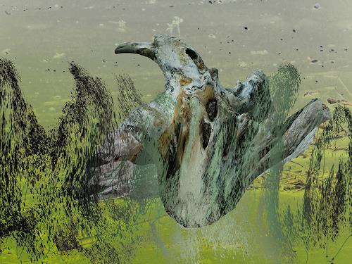 Rotraut Richter, Urvogel, Diverse Tiere, Mythologie, New Image Painting, Abstrakter Expressionismus