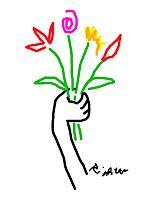 Rotraut-Richter-Pflanzen-Blumen-Fantasie-Gegenwartskunst-New-Image-Painting