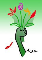 Rotraut-Richter-Natur-Diverse-Pflanzen-Blumen-Gegenwartskunst-Gegenwartskunst