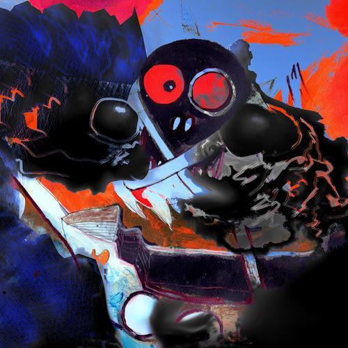 Rotraut Richter, Piratenorakel, Diverse Menschen, Skurril, New Image Painting, Abstrakter Expressionismus