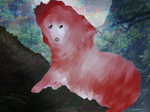 Rotraut Richter, DAS TIER LORELEI 0, Skurril, Tiere: Land, New Image Painting, Abstrakter Expressionismus