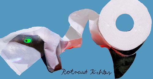 Rotraut Richter, KLOPAPIER 2, Skurril, Diverse Gefühle, Gegenwartskunst