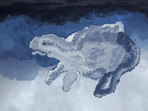 Rotraut Richter, EISTIER A, Diverse Tiere, Fantasie, New Image Painting