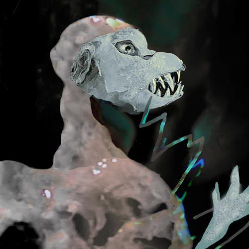 Rotraut Richter, CORONAVAMPIR, Skurril, Fantasie, Gegenwartskunst, Abstrakter Expressionismus