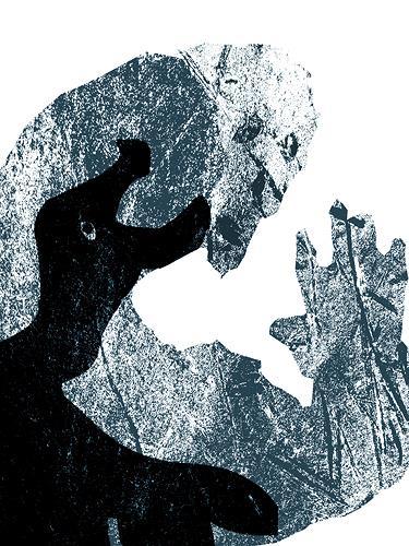 Rotraut Richter, Dämonverfolgung Demons tracking, Fantasie, Skurril, New Image Painting