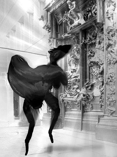 Rotraut Richter, Rodins Höllentor und Fantatier Rodin's Gates of Hell and Fanta animal, Fantasie, Skurril, New Image Painting, Abstrakter Expressionismus