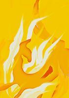 Rotraut-Richter-Fantasie-Natur-Feuer-Gegenwartskunst--New-Image-Painting