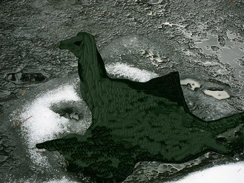 Rotraut Richter, Gelandet Landed, Fantasie, Tod/Krankheit, New Image Painting