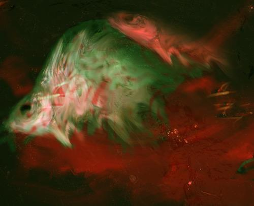 Rotraut Richter, Fischdesaster Fish Disaster, Fantasie, Tod/Krankheit, New Image Painting, Abstrakter Expressionismus
