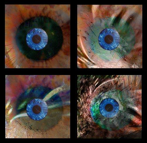 Rotraut Richter, Vier Augen-Blicke zu www.miss-verstehen.de, Situationen, New Image Painting, Abstrakter Expressionismus