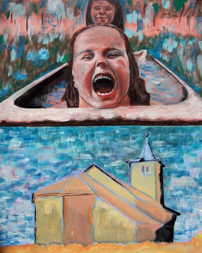 Vlado Franjević, ABOVE EVERYTHING, Menschen: Kinder, Bauten: Kirchen, Abstrakte Kunst, Abstrakter Expressionismus