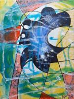 Vlado-Franjevi--263;-Abstraktes-Menschen-Frau-Moderne-Abstrakte-Kunst-Radikale-Malerei