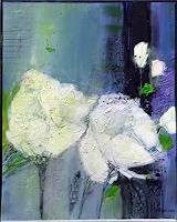 Philippin--Inge-Abstraktes-Pflanzen-Blumen-Gegenwartskunst-Gegenwartskunst