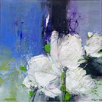 Philippin--Inge-Abstraktes-Pflanzen-Blumen-Moderne-Expressionismus