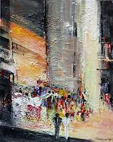 Philippin--Inge-Menschen-Gruppe-Abstraktes-Moderne-Expressionismus