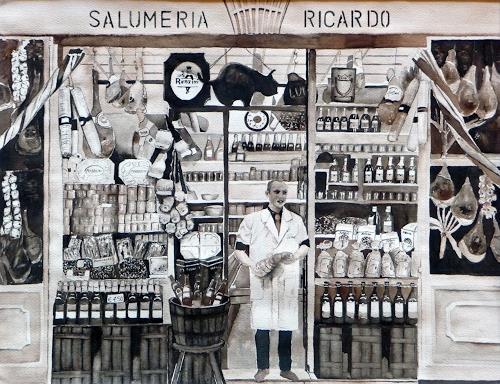 Philippin, Inge, Einkauf bei Ricardo, Arbeitswelt, Gefühle: Geborgenheit, Gegenwartskunst, Expressionismus
