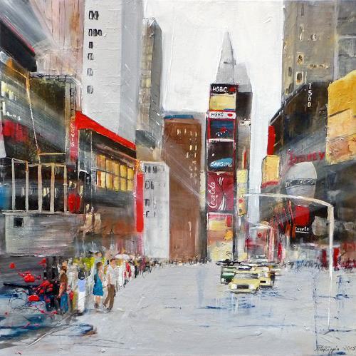 Philippin, Inge, Times Square, Bauten, Verkehr: Auto, Gegenwartskunst, Expressionismus