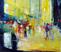 Philippin--Inge-Abstraktes-Menschen-Gruppe-Moderne-Expressionismus-Abstrakter-Expressionismus