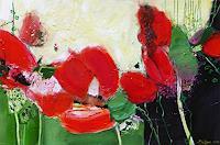Philippin--Inge-Landschaft-Sommer-Pflanzen-Blumen-Gegenwartskunst-Gegenwartskunst