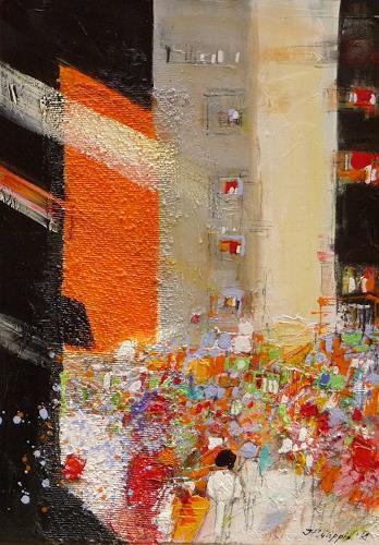 Philippin, Inge, Big Apple 4, Menschen: Gruppe, Bauten: Hochhaus, Gegenwartskunst