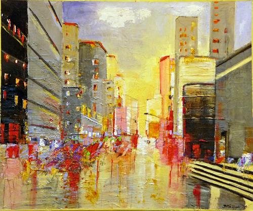 Philippin, Inge, Main Street, Wohnen: Stadt, Bauten: Hochhaus, Gegenwartskunst, Expressionismus