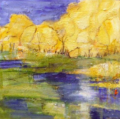 Philippin, Inge, Swamp, Landschaft: See/Meer, Diverse Romantik, Gegenwartskunst, Expressionismus