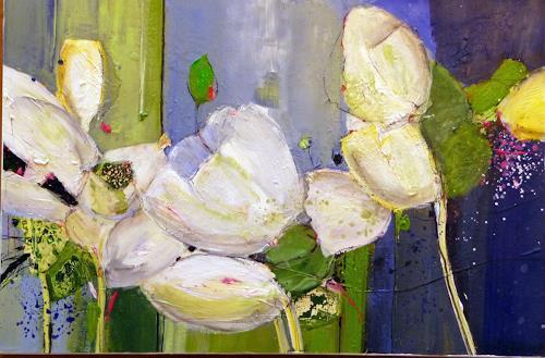 Philippin, Inge, Flowers, Pflanzen: Blumen, Wohnen: Garten, Gegenwartskunst, Expressionismus