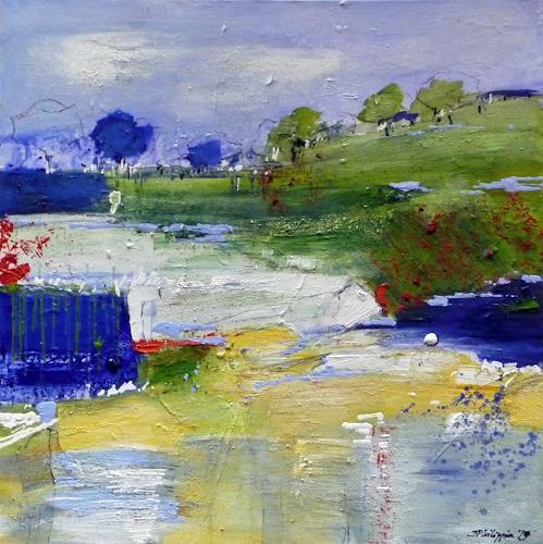 Philippin, Inge, Spring Longing 2, Landschaft: Frühling, Gefühle: Freude, Gegenwartskunst, Expressionismus
