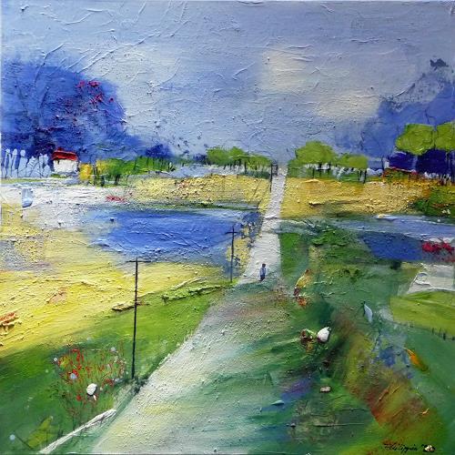 Philippin, Inge, Telegraph Road (song from Mark Knopfler), Diverse Landschaften, Musik: Musiker, Gegenwartskunst, Expressionismus