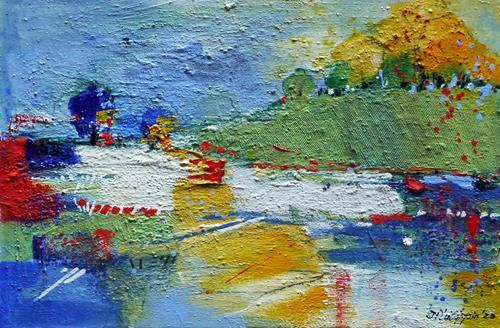 Philippin, Inge, Finally Summer 1, Landschaft: Sommer, Gefühle: Freude, Gegenwartskunst