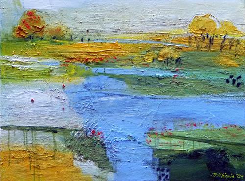 Philippin, Inge, Towards Summer, Landschaft: Sommer, Natur: Wasser, Gegenwartskunst, Expressionismus