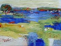 Philippin--Inge-Landschaft-See-Meer-Landschaft-Sommer-Gegenwartskunst-Gegenwartskunst