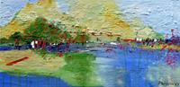 Philippin--Inge-Landschaft-See-Meer-Natur-Wasser-Gegenwartskunst-Gegenwartskunst