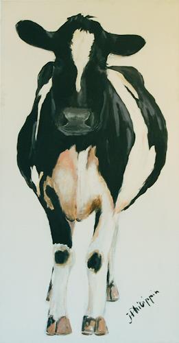 Philippin, Inge, Kuh von vorne, Tiere: Land, Gegenwartskunst