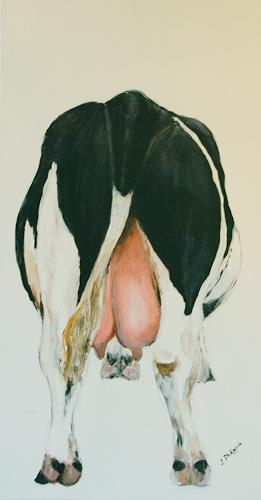 Philippin, Inge, Kuh von hinten, Tiere: Land, Gegenwartskunst