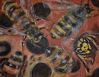 Yakuba-Elena-Tiere-Luft-Natur-Wald-Moderne-Expressionismus