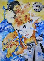 Yakuba-Elena-Abstraktes-Menschen-Paare-Moderne-Symbolismus