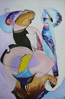 Yakuba-Elena-Abstraktes-Tiere-Land-Moderne-Symbolismus
